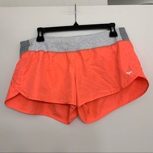 VS PINK orange running shorts with liner medium
